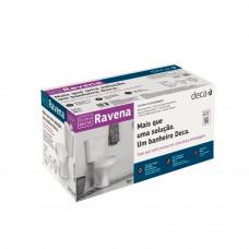 Kit Bacia com Caixa 6 Litros Ravena Completo Branco Deca