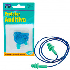 Protetor Auricular de Silicone com Cordão 903302 Dura Plus