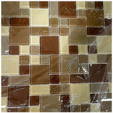 Pastilha de Vidro Mix Brown 30 x 30
